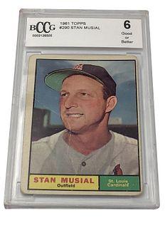 Stan Musial 1961 Topps #290 Baseball Card