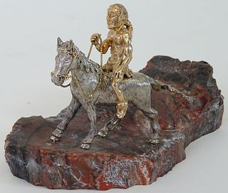 A 14K Gold Native American Indian Sculpture