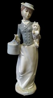 Nadal by Lladro Lady with Dog Porcelain