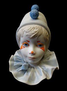 Cybis Porcelain Clown Bust