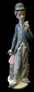 Lladro #5233 Charlie the Tramp Porcelain