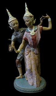 Lladro #2058 Thai Dancers Porcelain