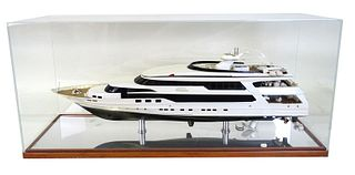 Princesa Valentina Yacht Model Encased in Pixel