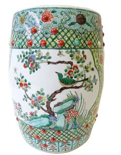 20th Century Chinese Famille Rose Garden Seat