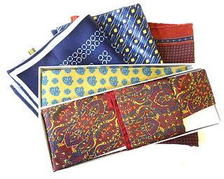 Pair of Designer Ties and Five (5) Pocket Squares