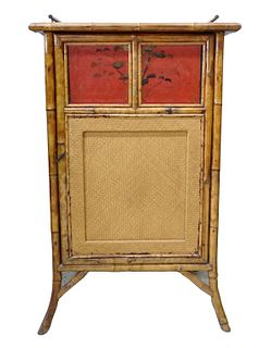 English Victorian Bamboo Chinoiserie Cabinet