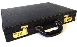 Vintage Crocodile briefcase