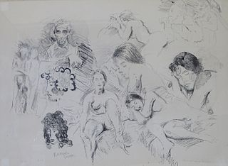 Raphael Soyer Etching on Paper Hand Signed