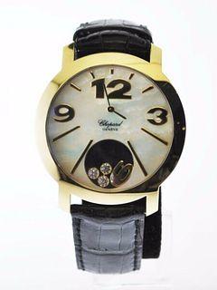 Chopard Happy Time Diamond Quartz Wristwatch Ref #4176 18 K YG $30K VALUE