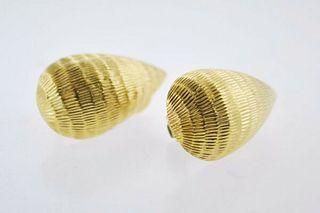 Vintage David Webb Drop Clip Earrings in Platinum & 18K YG - $8K VALUE !!!