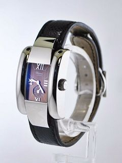 Chopard La Strada 8357 Ladies Rectangle Wristwatch SS Chopard Strap $10K VALUE
