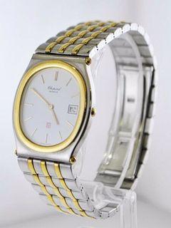 Chopard Monte Carlo Ref.#8035 Oval Wristwatch Two-Tone SS YG $13K VALUE