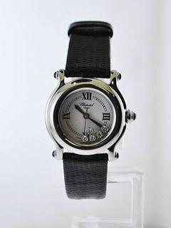 Chopard Happy Sport Floating Diamond Ladies Small Wristwatch Ref.8245 $10K VALUE