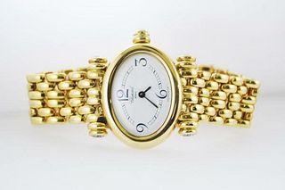 Vintage Chopard Imperiale 5246 Lady Oval Watch Diamond in 18K YG,Value$50,w/Cert