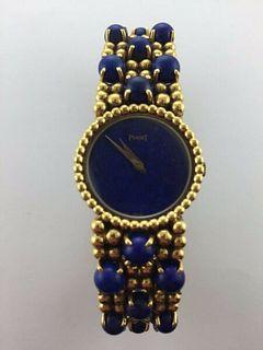 Piaget Ladys 18KYG w/YG Bracelet 38 Lapis Lazuli Stones,Dial,Unique!Box,Est$60K!