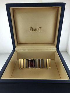 Piaget 18KYG Unisex w18K Bracelet,Rare Black Onyx Dial! Brand New Box! Est $40K!
