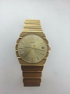 Piaget Polo 18KYG Men's Watch Large,Gold Bracelet,Date,New,Box,Guarant.Est.$40K!