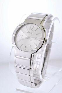 Piaget Date Men's 18K White Gold Automatic Wristwatch - $60K VALUE