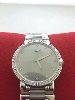 Piaget 18k White Gold Men's Watch w/Diamonds on Bezel and Dial. w/ COA $50k Apr!