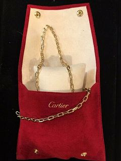 CARTIER Necklace and Bracelet Set in 18K Yellow Gold w/ COA $24K Apr. Value!