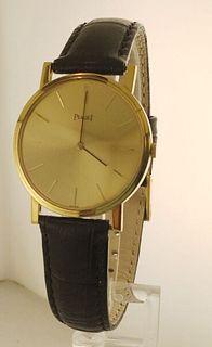 Piaget 18k YG Large Rare Model Watch w/Strap! Box&Papers,like New!Free $20K APR!