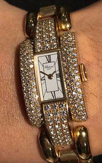 Chopard Ladies 18K YG  Diamond Bezel Lady La Strada Watch $60K VAL! BOX & CERT!!