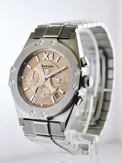 Vintage Chopard St. Moritz Ref 8386 Wristwatch Chronograph SS, Value$20k, w/Cert