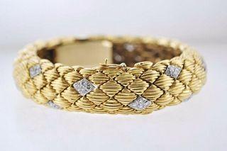 1950s David Webb Signed Bracelet/Watch in 18K Gold & Platinum - $85K VALUE