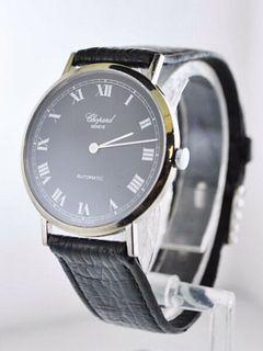 Vintage Chopard Ref. #1038 Automatic Wristwatch 18KWG Leather Strap $10K VALUE