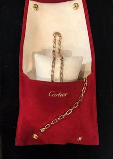 CARTIER Necklace in 18K Rose Gold w/ COA - $15K Apr. Value