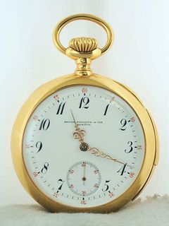 1901 Patek Philippe & Cie Pocket Watch for Leroy Fales in 18K w/COA $100k Apr!