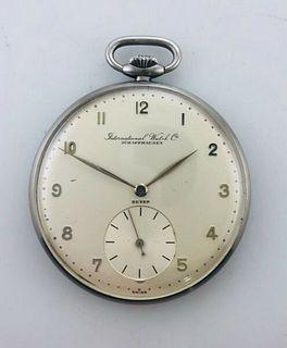 1930s Vintage,International Watch Schaffhausen Beyer Pocket SS,Value$20K,w/Cert!