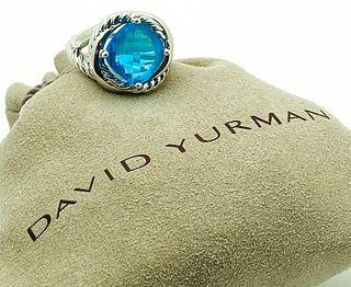 DAVID YURMAN BLUE TOPAZ STERLING SILVER INFINITY RING