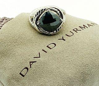 DAVID YURMAN HEMATITE STERLING SILVER INFINITY RING