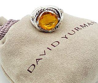 DAVID YURMAN CITRINE STERLING SILVER 925 INFINITY RING