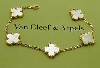 VAN CLEEF & ARPELS 18K VINTAGE ALHAMBRA BRACELET