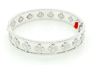 VAN CLEEF & ARPELS WHITE GOLD DIAMOND BRACELET