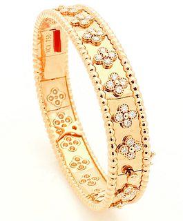 VAN CLEEF & ARPELS ROSE GOLD DIAMOND BRACELET