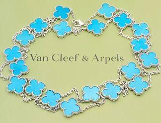 Van Cleef & Arpels 18k Gold Vintage Alhambra Necklace