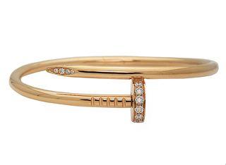CARTIER 18k Rose Gold JUSTE Un CLOU Bracelet