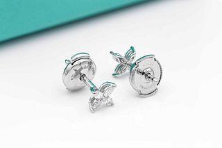 Tiffany & Co 0.21ct Diamond Platinum Earrings