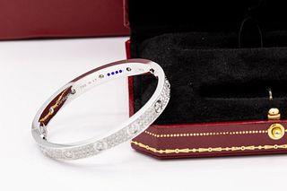 Cartiert 18K Love Diamond 3.44tcw Bracelet Size 17