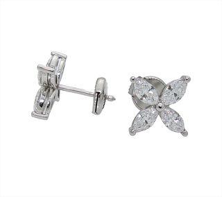 Tiffany and Co. Victoria Diamond Large Model Stud