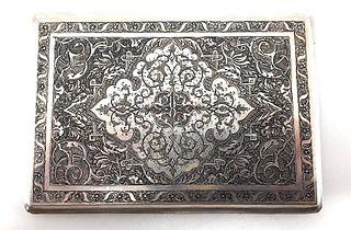 Persian Silver Cigarette Case