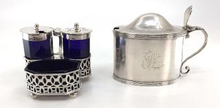 Group of English Silver Condiment Dishes