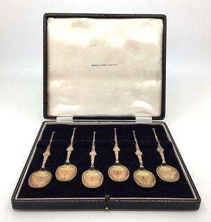 Six Queen Elizabeth II Coronation Spoons in Fitted Case