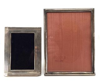 Two Sterling Silver Picture Frames, Modern