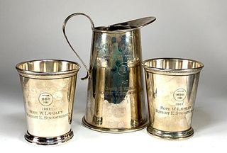 Schroth Sterling Pitcher Two Julep Cups