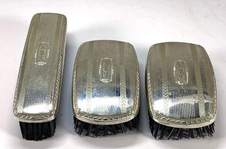 Three Sterling Silver Clothes Brushes