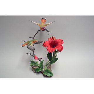 MARURI USA ALLEN'S HUMMINGBIRD WITH HIBISCUS